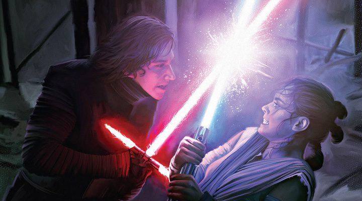 Kylo Ren y Rey en 'Star Wars: El despertar de la Fuerza'