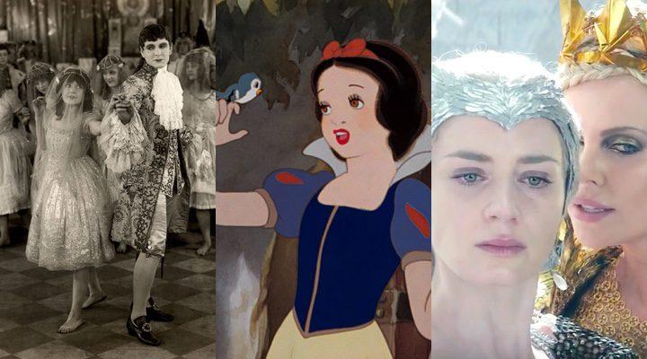 'Snow White' de 1917, 'Blancanieves y los siete enanitos' de 1937 y 'Las crónicas de Blancanieves: El cazador y la reina del hielo' de 2016