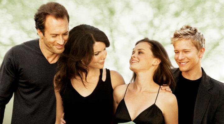 Lorelai y Rory con sus hombres