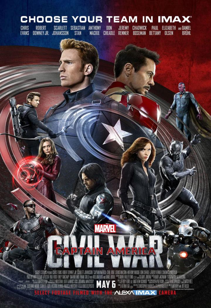 Póster IMAX Capitán América Civil War