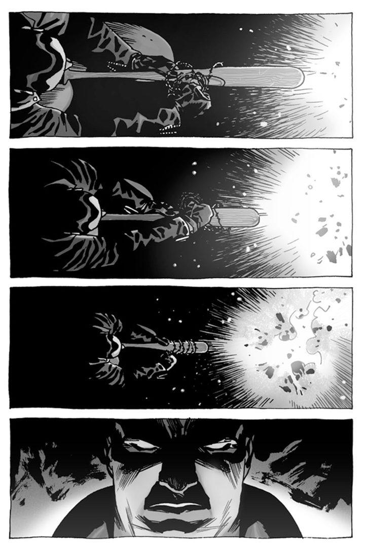 Primera página del cómic que cuenta el pasado de Negan