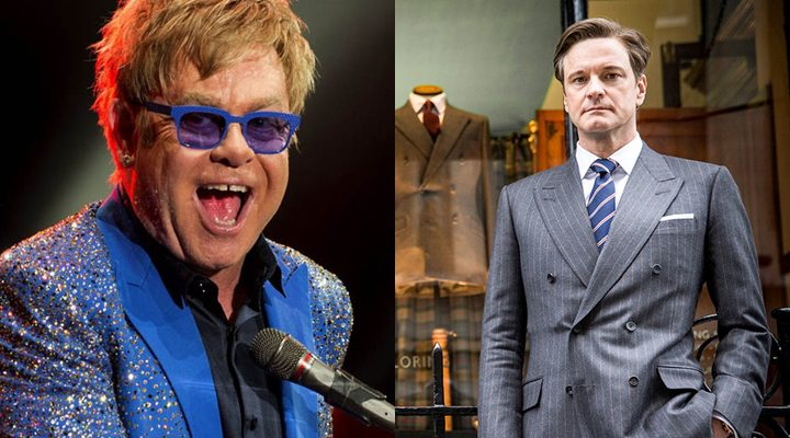 Elton John y Colin Firth 'Kingsman'