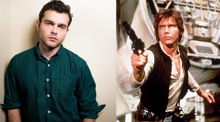 Alden Ehrenreich y Han Solo