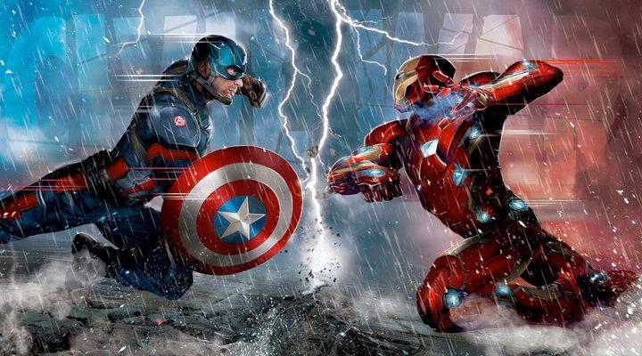 Capitán América y Iron Man luchando en 'Capitán América: Civil War'