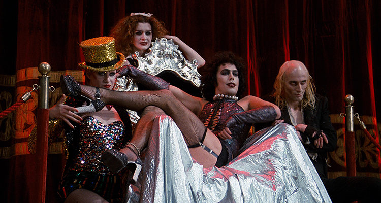 Nell Campbell, Patricia Quinn, Tim Curry y Richard O'Brien en 'The Rocky Horror Picture Show'