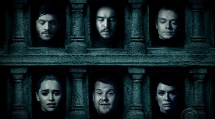 Las cabezas más animadas de 'Juego de Tronos' con James Corden
