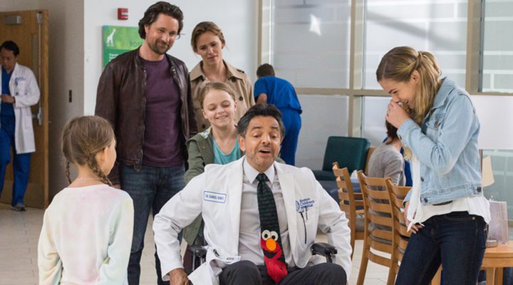 El personaje de Eugenio Derbez pasándoselo pipa en 'Los Milagros del Cielo'