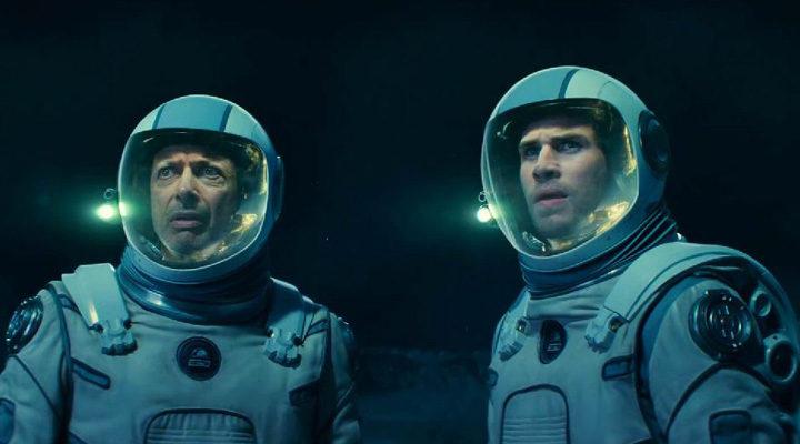 Jeff Goldblum y Liam Hemsworth en 'Independence Day: Contraataque'
