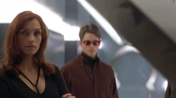 Famke Janssen y James Marsden como Jean Grey y James Marsden en 'X-Men'