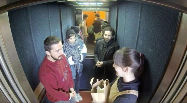 Shia Labeouf ascensor
