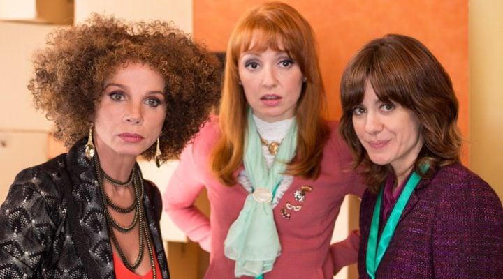 Fotograma con las tres protagonistas de 'Nacida para ganar'