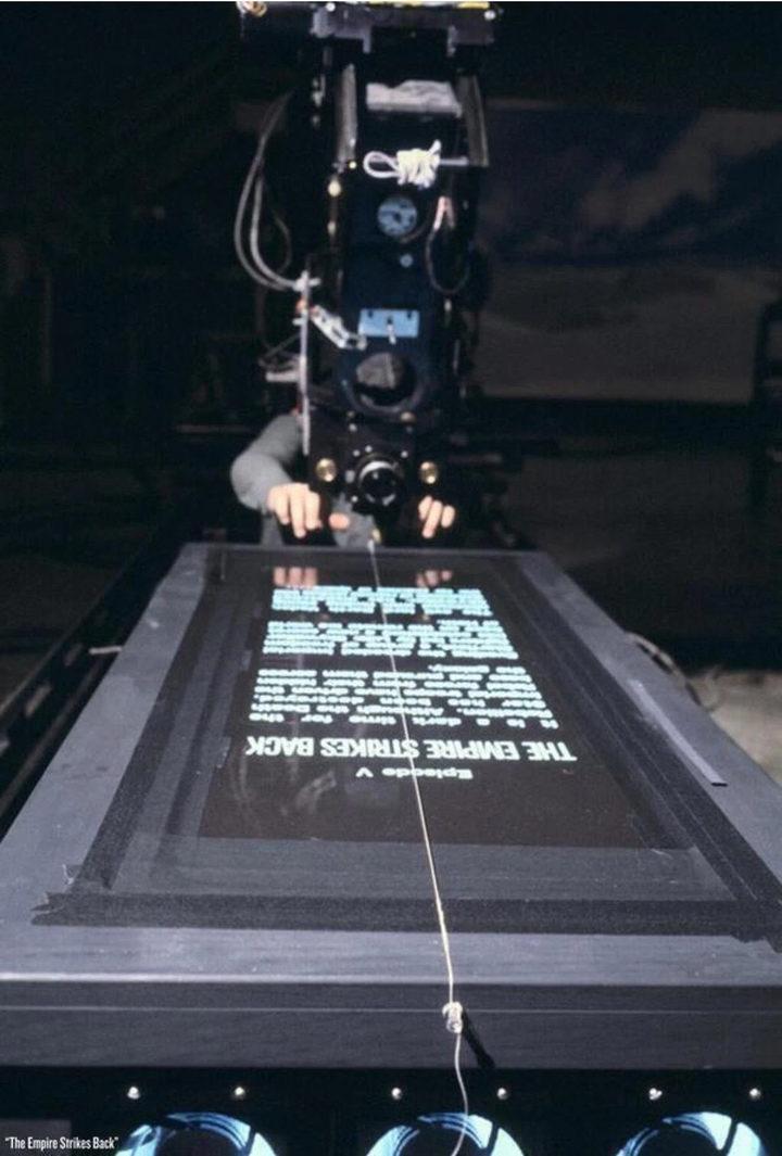Así se grabó el rótulo inicial de 'Star Wars'