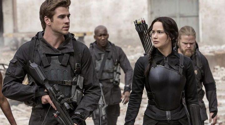 Jennifer Lawrence y Liam Hemsworth en Los Juegos del Hambre