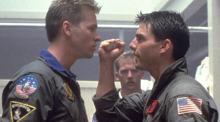 Val Kilmer y Tom Cruise en 'Top Gun'
