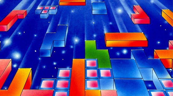 Imagen vintage del videojuego 'Tetris'