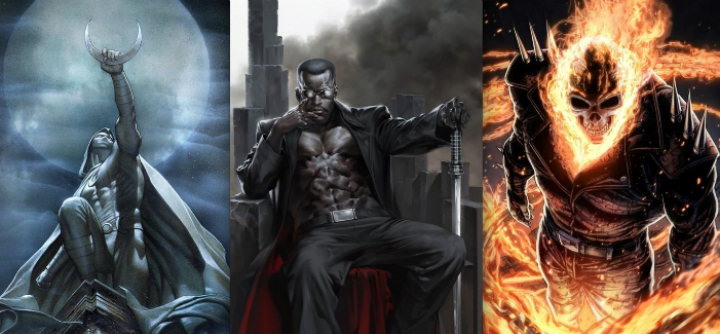 Moon Knight, Blade y Ghost Rider