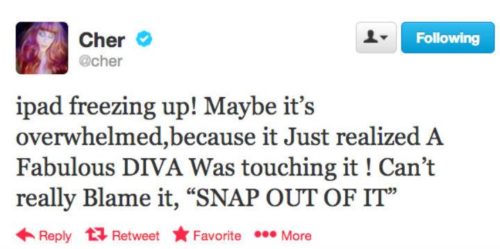 Uno de los tweets más locos de Cher