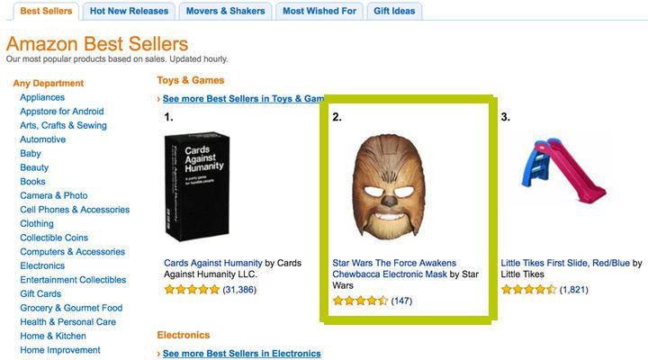 La máscara de Chewbacca