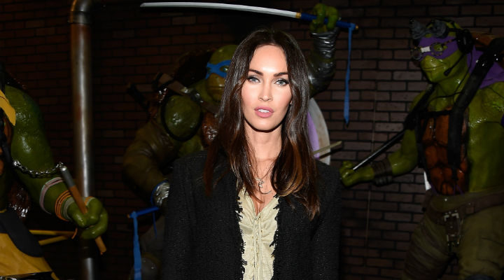 Megan Fox promocionando 'Ninja Turtles: Fuera de las sombras'