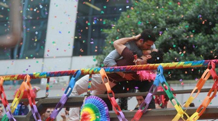 Miguel Angel Silvestre en el Orgullo Gay