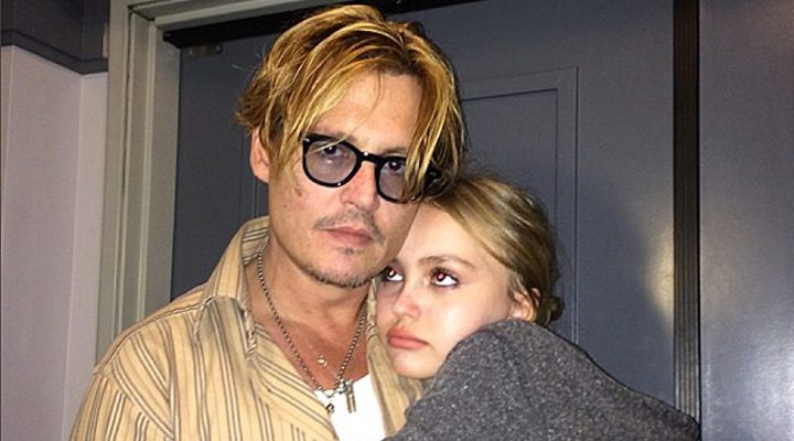 Johnny Depp y Lily-Rose Melody Depp