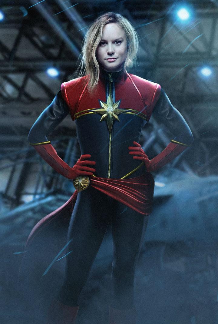 Brie Larson como Captain Marvel fan art 1