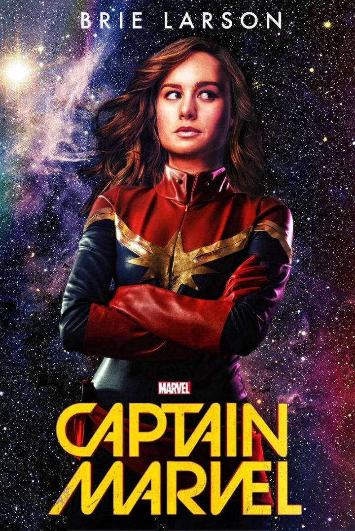 Brie Larson como Captain Marvel fan art 2