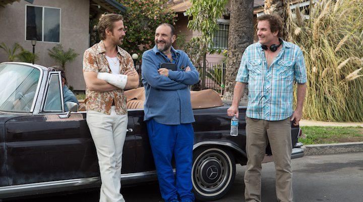 Shane Black en el rodaje de Dos buenos tipos