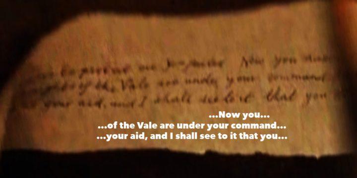 Carta de Sansa Stark