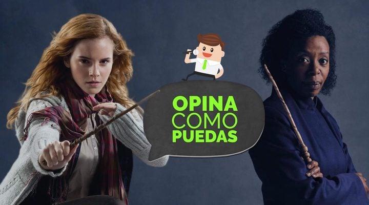 Emma Watson y Noma Dumezweni como Hermione Granger