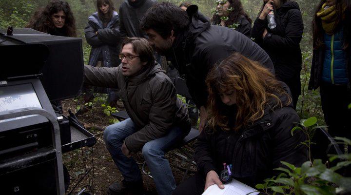 Alberto Marini en el rodaje de 'Summer Camp'