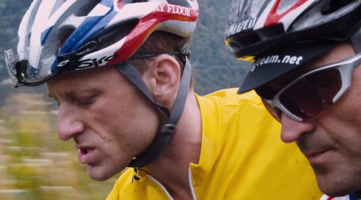 Lance Armstrong en una carrera