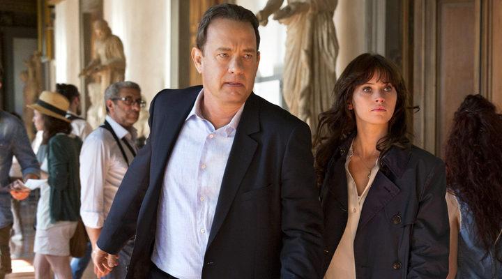 Tom Hanks y Felicity Jones en el rodaje de inferno