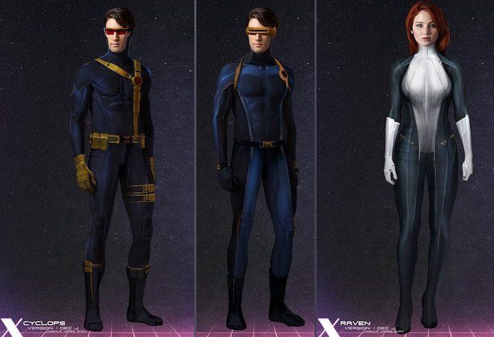 Diseños alternativos personajes X-Men: Apocalipsis
