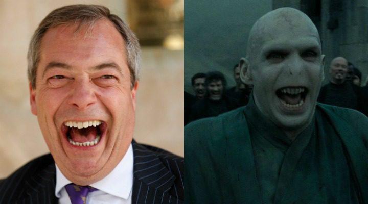 Nigel Farge y Lord Voldemort