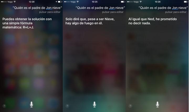 'Juego de Tronos' y Siri