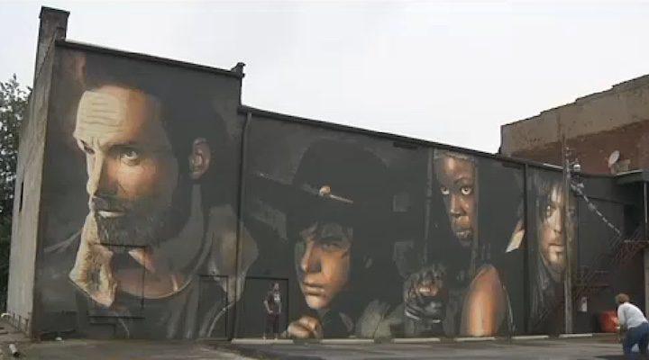 Mural The Walking Dead