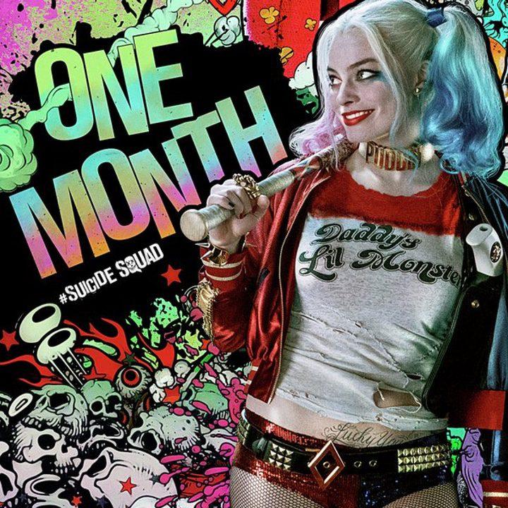 Póster un mes Harley Quinn