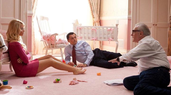 Margot Robbie recibiendo instrucciones de Scorsese