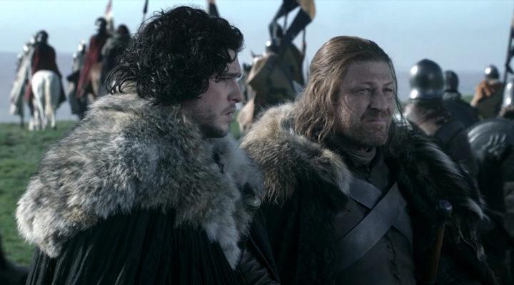 Ned Stark y Jon Nieve en 'Juego de Tronos'