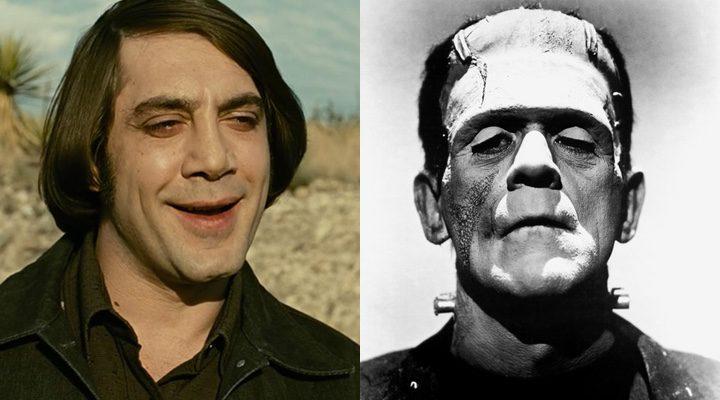 Javier Bardem en 'No es país para viejos' y Frankenstein