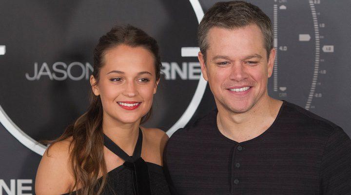 Alicia Vikander y Matt Damon, rueda de prensa Jason Bourne