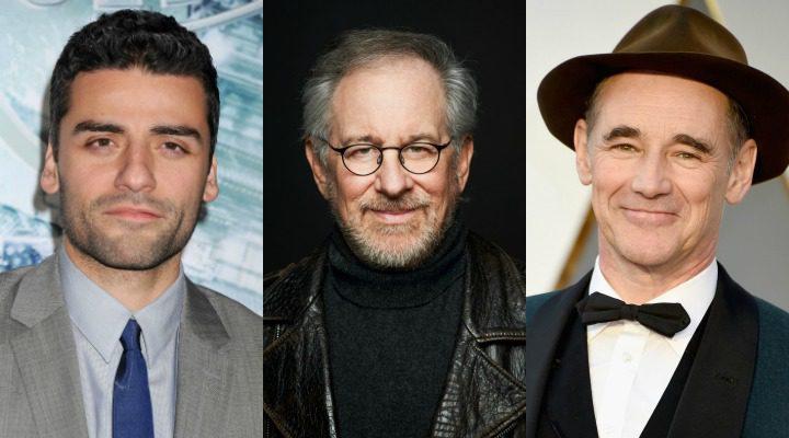 Oscar Isaac, Steven Spielberg y Mark Rylance
