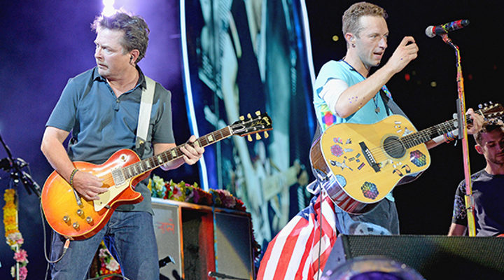 Michael j. fox, chris martin