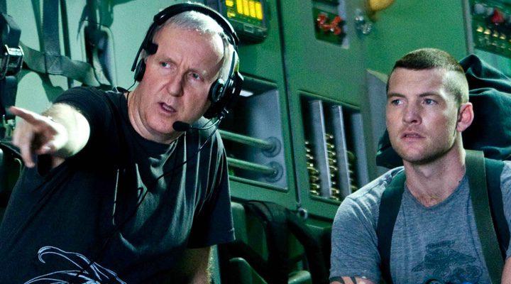 James Cameron dando instrucciones