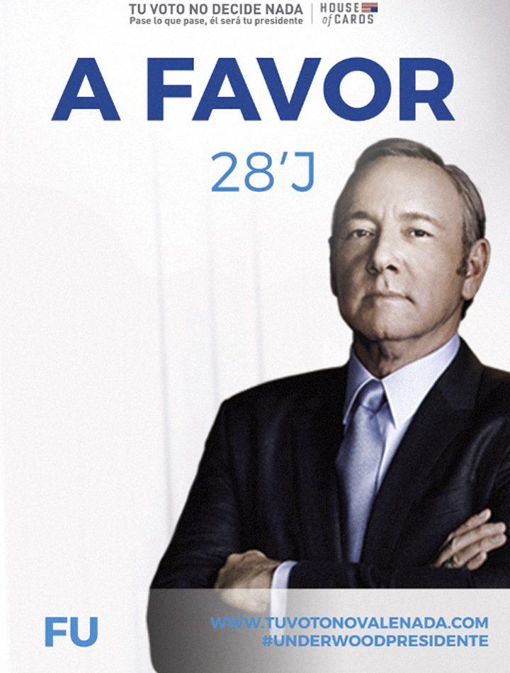 House of Cards\': Frank Underwood parodia los carteles de los ...