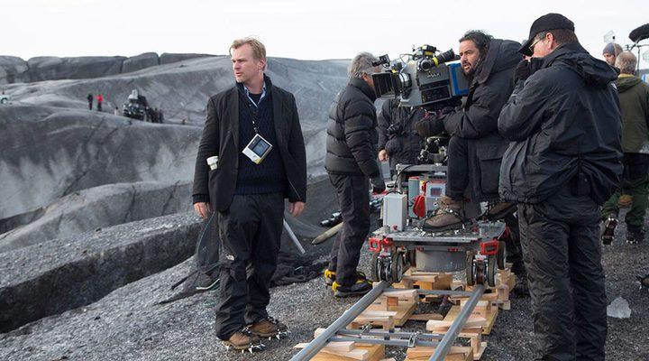 Christopher Nolan en el set de rodaje
