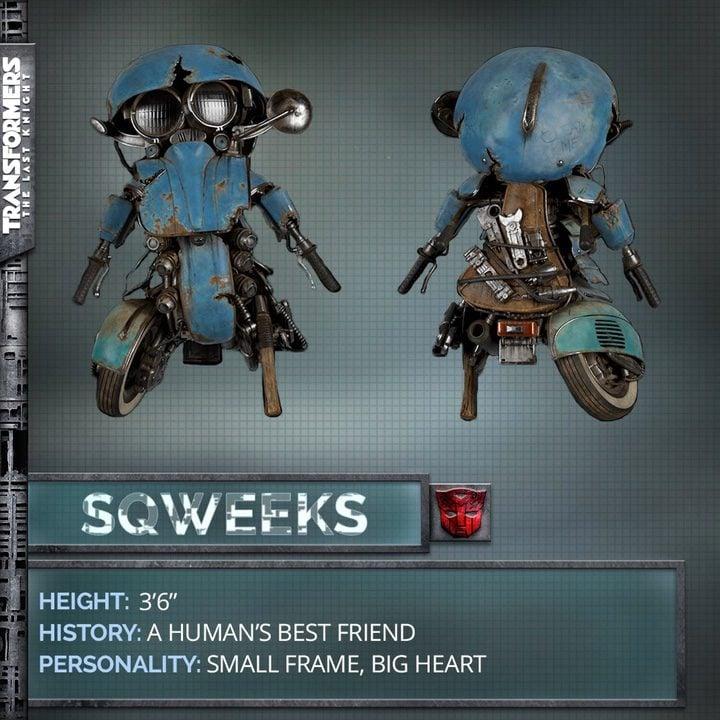 Sqweeks, uno de los nuevos personajes de 'Transformers: The last Knight'