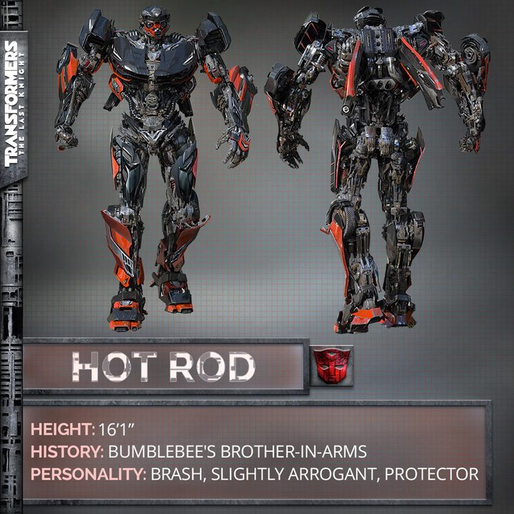 Hot Rod, uno de los nuevos personajes de 'Transformers: The Last Knight'