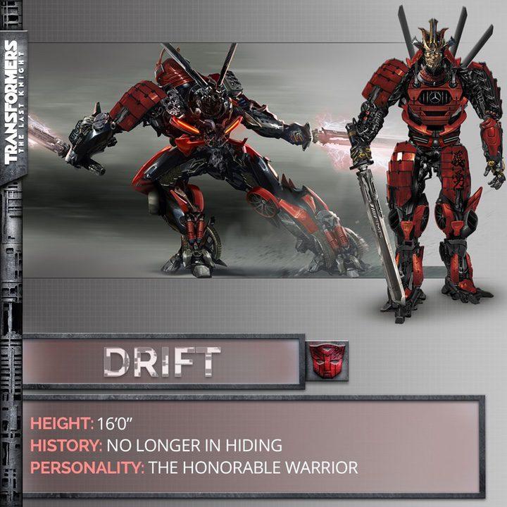 Drift, uno de los nuevos personajes de 'Transformers: The last Knight'